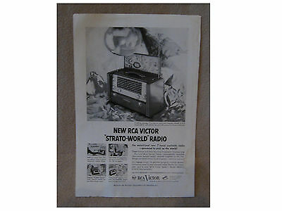 ORIGINAL ADVERT - RCA VICTOR STRATO-WORLD RADIO from National Geographic 1953