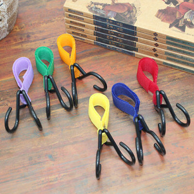 Colorful Multi Purpose Baby Stroller Pram Pushchair Hanger Hanging 2 Hooks Strap