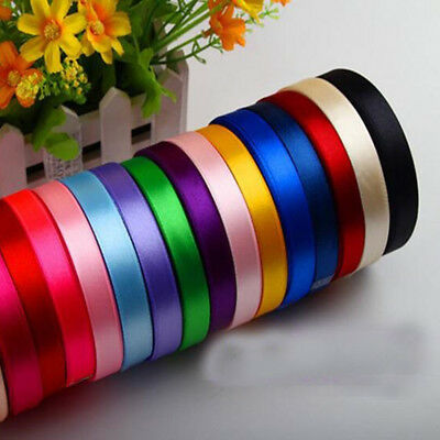 25 Yard Silk Satin Ribbon Decor Gift Box Wrapping Wedding Party Christmas Craft