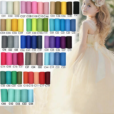 6''x 25yd Tulle Roll Spool Fabric Wedding Party Table Chair Bow Home Decor DIY