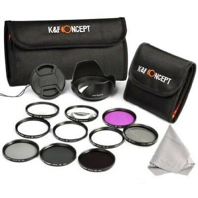 K&F Concept 58mm Filtro Kit UV CPL FLD ND2 ND4 ND8 Close up +1+2+4+10 Filtro
