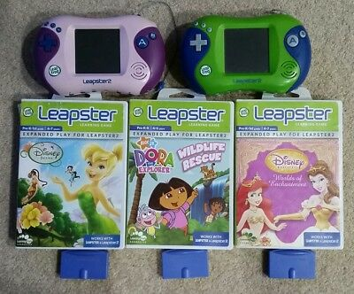 2 x Leapster  learning console and games