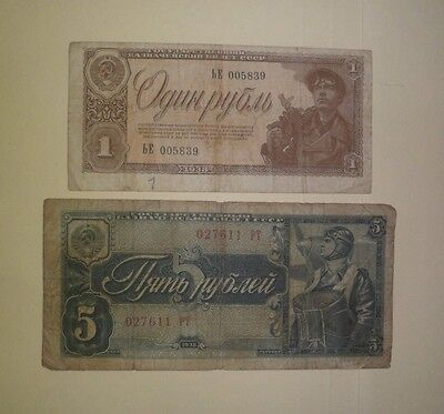 2 Hard To Find 1938 Russian Banknotes (Pre Ww2)