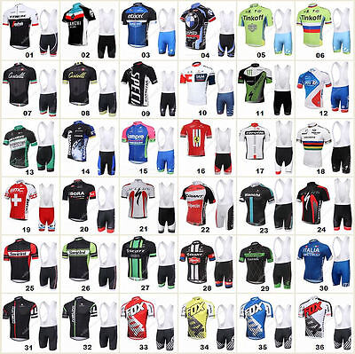 Many Style Bicycle Team Sport Cycling Clothing Short Sleeve Jersey&Bib Pant Sets