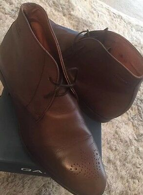 GANT mens Brown Leather  Boots With Lace  Euro Size 43 / UK9