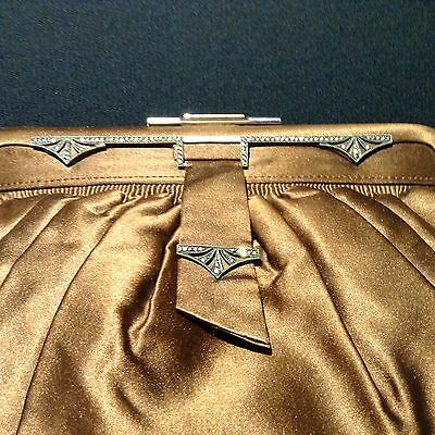 RARE Paris ART DECO Purse for A. Rosenhain, Berlin, Sterling, Marcasites, Exclnt