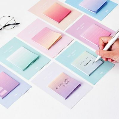 Colorful Office Supplies Sticky Notes Rainbow Color Memo Pad Paster Stickers