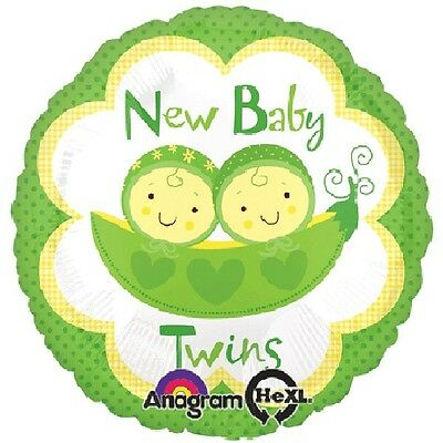 BABY SHOWER DECORATION - TWO PEAS IN A POD - 45cm FOIL BALLOON