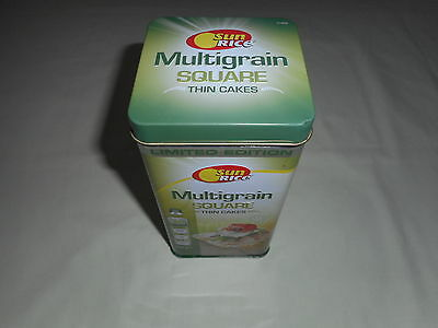 Sun Rice Multigrain Square Thin Cake/biscuit Tin