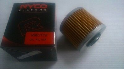 Ryco Oil Filter Cartridge Rmc118 Yamaha Motorcycles