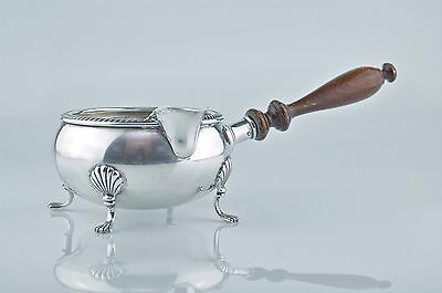 FISHER Sterling Silver Footed Gravy/Sauce Boat With Wooden Handle #1096