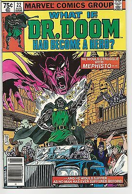 WHAT IF #22, FN/VF 7.0, Dr. Doom Had Become a Hero?