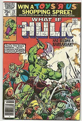 WHAT IF #23, FN/VF 7.0, The Hulk Had Become a Barbarian?