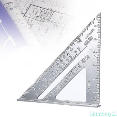 Aluminium Stainless Steel Silver Triangle Ruler Measure Scales Tool  NSW AU