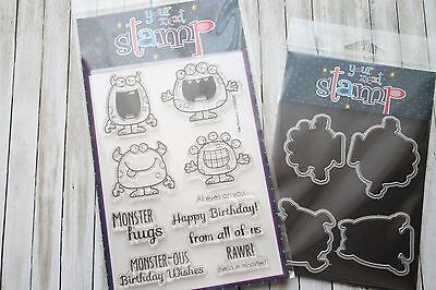 "Your Next Stamp Stempelset ""Silly Monsters"" inkl. Framelits"