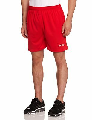 Mitre T50101 Metric Football  Men's Shorts Red - LG (waist 36-38)