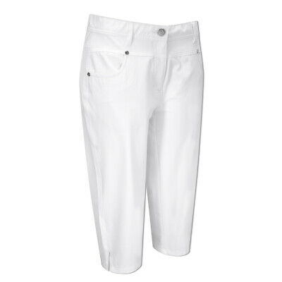 Green Lamb UV Protect Pedal Pushers with Flattering Fit in White
