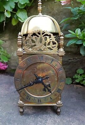 A nice quality French lantern clock + compensated  escapement - working fine