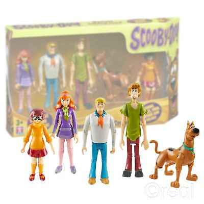 """New Scooby Doo Mystery Solving Crew 5"""" Action Figure 5 Pack Official"""