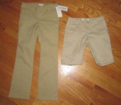 new Boys girls unisex Target school uniform khaki pants  adj waist  size 8