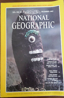 """National Geographic - December, 1980 Back Issue, """"The Aztecs"""""""
