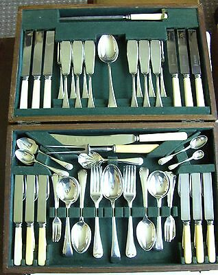 Vintage 73 Piece B & J Sippel Sheffield Canteen Of Silver Plated Cutlery