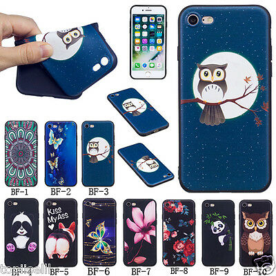 Ultra-thin Cute 3D Embossed Patterned TPU Silicone Rubber Soft Back Case Cover