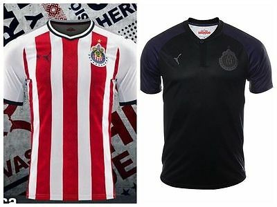 best service 3be34 5f67f 2017-2018 CHIVAS DE Guadalajara Home/Away Soccer Jersey Short sleeve SIZE  S-2XL