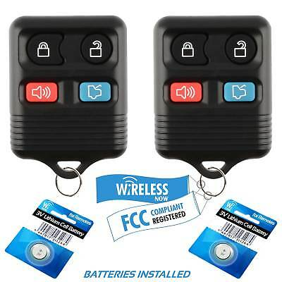 2 Car Key Fob Keyless Entry Remote 4B For 2011 2012 2013 2014 Ford Mustang
