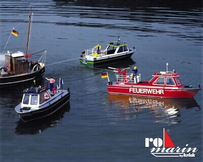 Dolly Harbour Launch Motorboat including Fittings Kit 1:20 Scale Krick Robbe RC