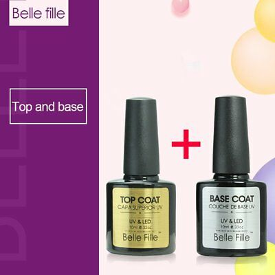 Belle Fille Top Coat Gel Base Coat Primer UV Led Nail Polish Soak Off Manicure