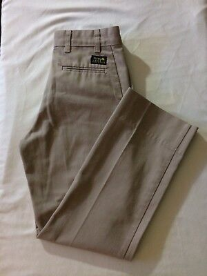Flynn And O'Hara Boys Khaki Uniform Pants Size 12 Slim