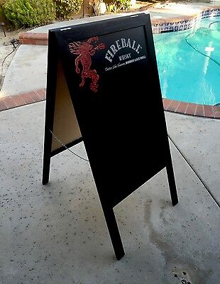 Fireball cinnamon whiskey A-Frame Sidewalk Chalk Board Sandwich   Last One !