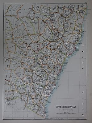 1897 Australia New South Wales Large Map