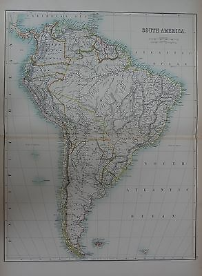 1897 South America Falklands S Georgia Large Map