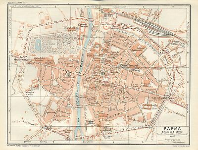 1924 Muirhead Antique Town Plan-Italy-Parma