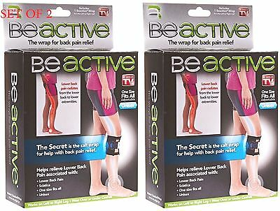 d1c038d652 2 PACK BeActive Brace Be Active As Seen on TV Acupressure Leg Sciatica Back  Pain