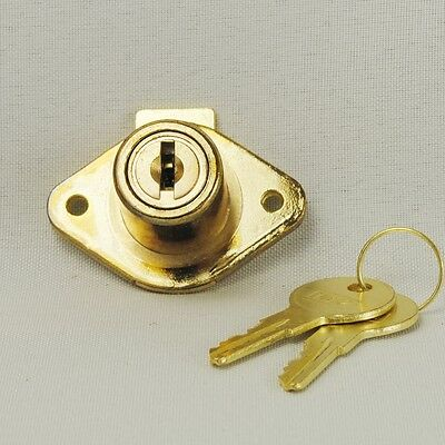 Brass Drawer Lock 7/8 Inch