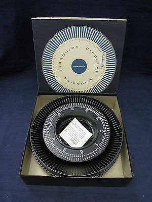 Vintage Airequipt Circular 100 Slide Projector Magazine Tray