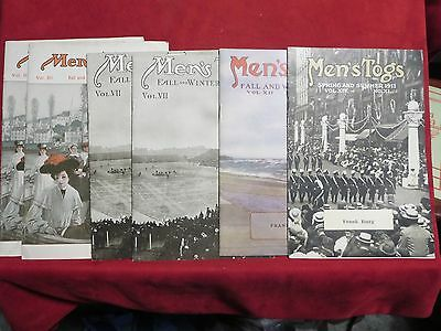 vintage clothing catalog Price men's togs clothing ed price LOT of 6 RARE!!!