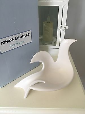 PartyLite Jonathan Adler Peace Dove Tealight Holder New