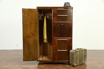 Art Deco 1935 Vintage Armoire, Chifferobe, Wardrobe or Cedar Closet