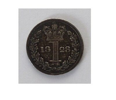 1828 Maundy Money One Pence Coin George Iv (5546)