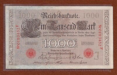 Germany 1910 1000 Bill About Uncirculated