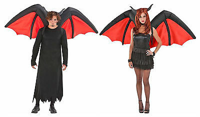 Airblown Inflatable Halloween Demon Devil Wings Costume Accessory Adult Unisex