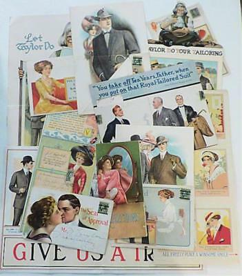 Collection of Elaborate Advertising Mailers for Men's Clothing - Late 1910s