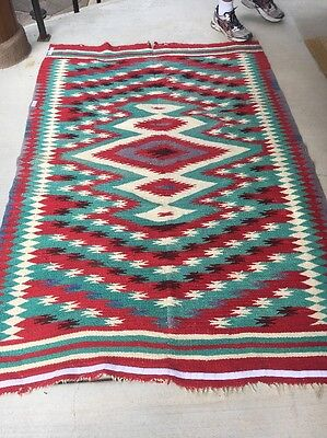 Late 19th Century Rio Grande Blanket Saltillo Pattern Mexican Navajo