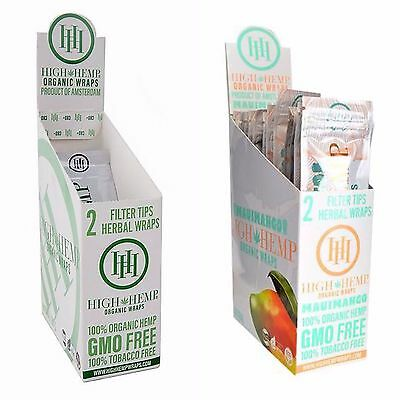 High Hemp Organic & Mango 2 Boxes- 50 Pouches -100 Wraps/Filters!