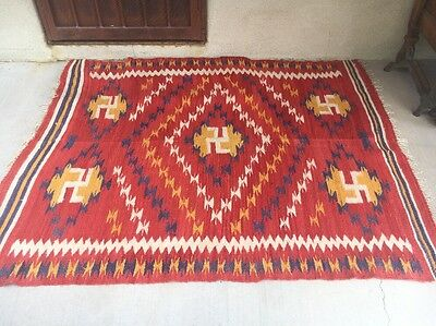 Late 19th Century Rio Grande Blanket Navajo Mexican Saltillo Pattern