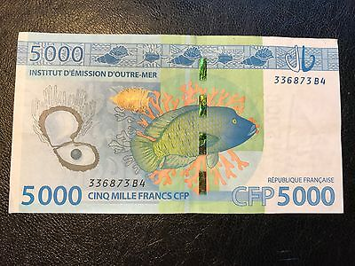 French Pacific Territories Polynesia 5000 Francs Xpf Cfp 2014 P-7 Circulated